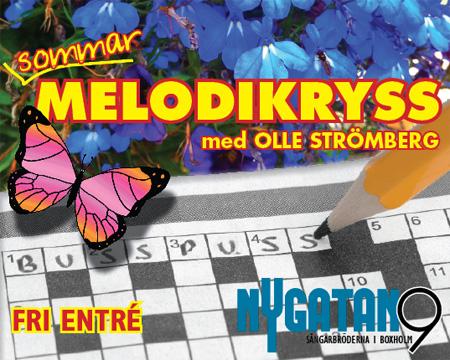 Melodikryss Sommarspecial sön 5 augusti