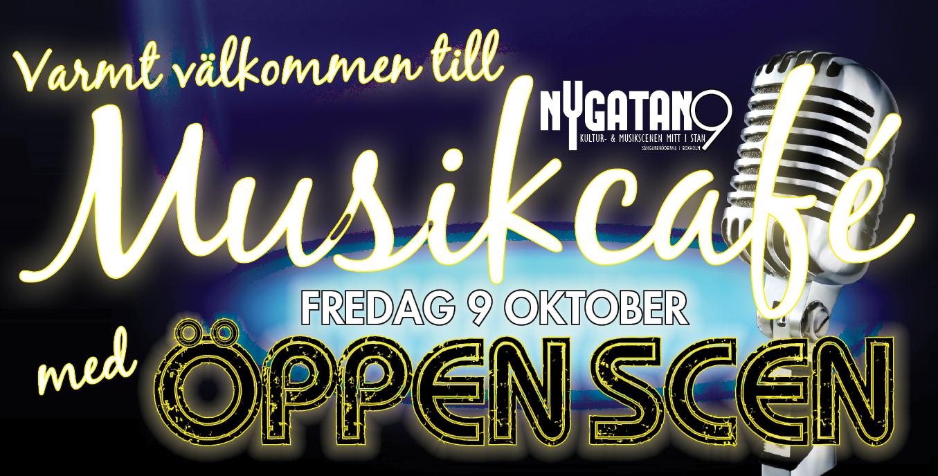 Dags för höstens första Musikcafé med Öppen Scen den 9 oktober