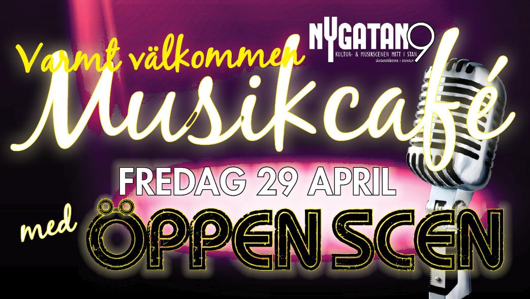 Dags för årets första Musikcafé med Öppen Scen