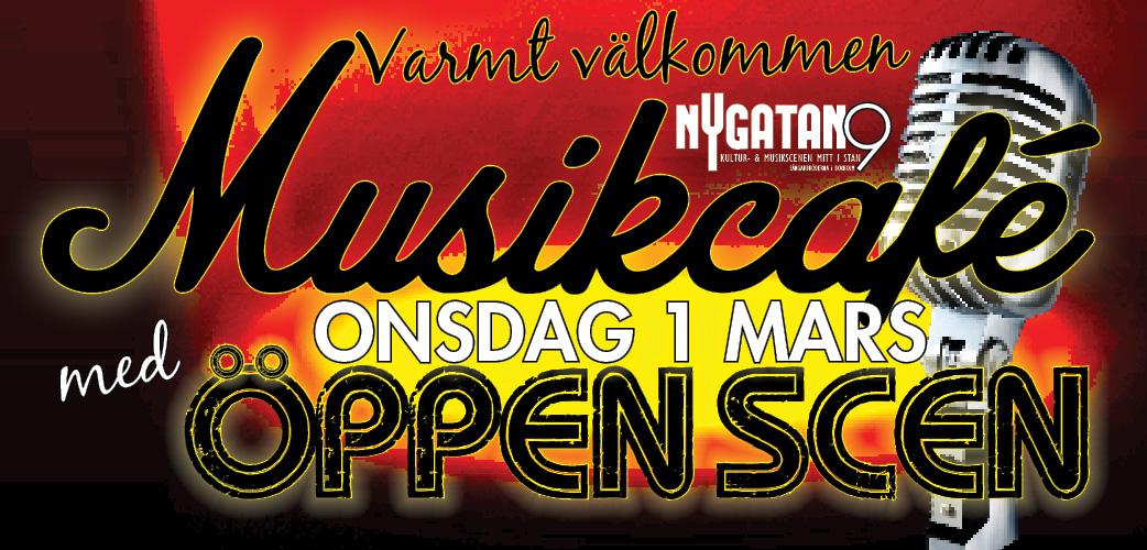 Dags för Musikcafé med Öppen scen!