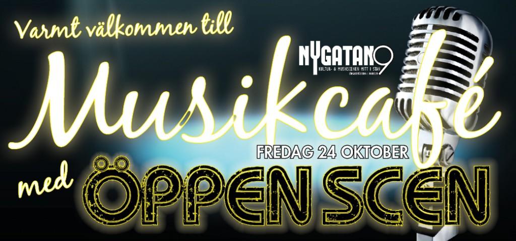 Dags för Musikcafé med Öppen Scen