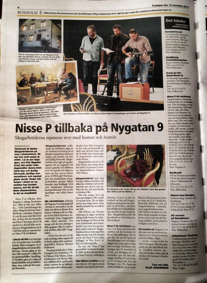 Länstidningen på besök på NYGATAN9